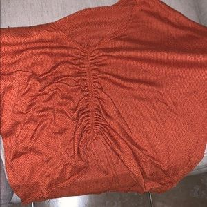 Burnt Orange scrunch sweater from Urban Outfitters